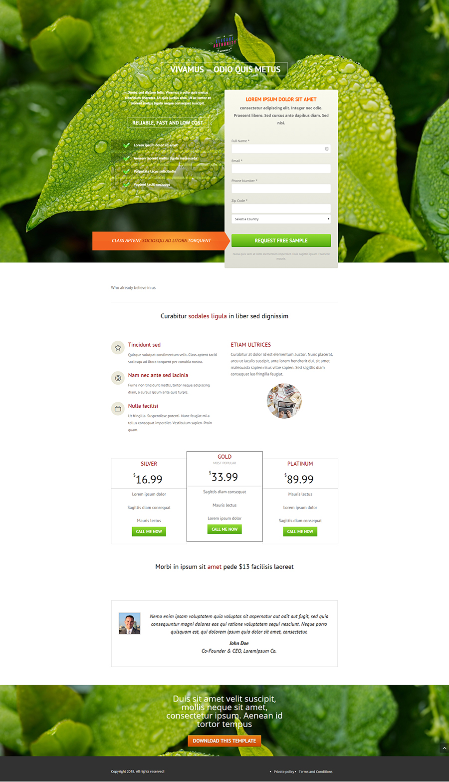 Ultimate landing page 2 (light)